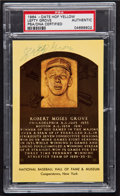 Autographs:Bats, Lefty Grove Hall of Fame Plaque Postcard PSA/DNA CertifiedAuthentic....