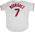Baseball Collectibles:Uniforms, 1998 Pudge Rodriguez Game Issued Jersey....