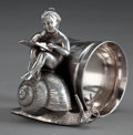 Silver Holloware, American:Napkin Rings, AN AMERICAN SILVER-PLATED FIGURAL NAPKIN RING . Attributed toMeriden Silver Plate Co., Meriden, Connecticut, circa 1875. Ma...