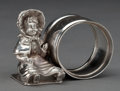 Silver Holloware, American:Napkin Rings, A DERBY SILVER-PLATED FIGURAL NAPKIN RING . Derby Silver Co., Derby(Birmingham), Connecticut, circa 1875 . Marks: DERBY S...