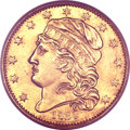 Early Half Eagles, 1834 $5 Capped Head, Crosslet 4 Genuine PCGS. Breen-6500, BD-2, R.5....