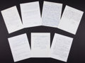 Baseball Collectibles:Others, Baseball Stars Handwritten and Signed Letters Lot of 7....