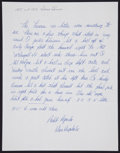 Baseball Collectibles:Others, Don Drysdale Handwritten, Signed Letter....