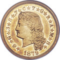 Proof Four Dollar Gold Pieces, 1879 $4 Flowing Hair, Judd-1635, Pollock-1832, R.3, PR58 NGC.CAC....