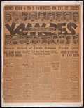Baseball Collectibles:Others, 1927 New York Yankees World Series Original Newspaper....