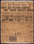 "Baseball Collectibles:Publications, 1920 Chicago Black Sox Original ""The Boston Post"" Newspaper...."