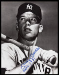 "Baseball Collectibles:Photos, Mickey Mantle ""1951"" Signed Oversized Photograph. ..."