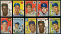 Baseball Cards:Lots, 1954 Topps Baseball Collection (159) With Stars and Kaline Rookie....
