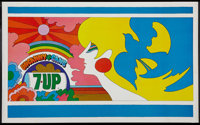 """7-Up Advertising Poster (7-Up, 1969). Promotional Poster (20.75"""" X 33.75""""). Miscellaneous"""