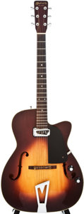 Musical Instruments:Electric Guitars, 1962 Martin F-50 Sunburst Semi-Hollow Body Electric Guitar,#184472....