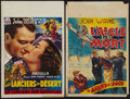 "Movie Posters:Action, I Cover the War and Other Lot (Century Pictures, late 1940s). Belgian Posters (2) (14"" X 21.5""). Action.. ... (Total: 2 Items)"