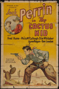 "Movie Posters:Western, The Cactus Kid (William Steiner, 1935). One Sheet (27"" X 41"").Western.. ..."