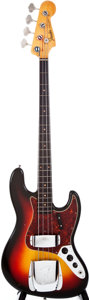 Musical Instruments:Bass Guitars, 1963 Fender Jazz Bass Sunburst Electric Bass Guitar, #89513....