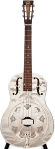 Musical Instruments:Resonator Guitars, 1933-34 National Style O Nickel Resonator Guitar, #S4947....