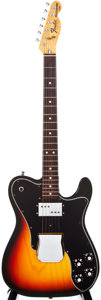 Musical Instruments:Electric Guitars, 1977 Fender Telecaster Custom Sunburst Solid Body Electric Guitar,#S71277....