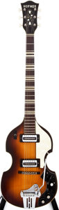 Musical Instruments:Electric Guitars, 1966-67 Hofner 459VTZ Sunburst Semi-Hollow Body Electric Guitar,#N/A....