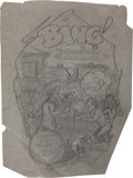 Original Comic Art:Miscellaneous, Edgar Church Bang Preliminary Illustration Original Art(undated)....
