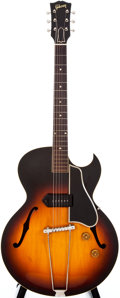 Musical Instruments:Electric Guitars, 1955 Gibson ES-225T Sunburst Archtop Electric Guitar, #W3550....