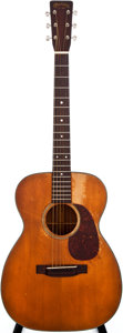 Musical Instruments:Acoustic Guitars, 1952 Martin 00-18 Natural Acoustic Guitar, #127346....