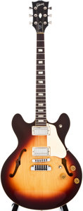 Musical Instruments:Electric Guitars, 1979 Gibson ES-335CRS Sunburst Semi-Hollow Body Electric Guitar,#71379085....
