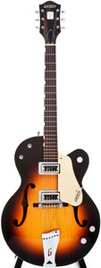 Musical Instruments:Electric Guitars, 1960 Gretsch 6117 Sunburst Semi-Hollow Body Electric Guitar,#37198....