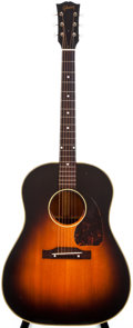 Musical Instruments:Acoustic Guitars, 1949-50 Gibson J-45 Sunburst Acoustic Guitar, #381513....