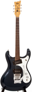 Musical Instruments:Electric Guitars, 1967 Mosrite Ventures Metallic Blue Solid Body Electric Guitar,#D004....