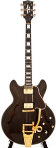 Musical Instruments:Electric Guitars, 1964-5 Gibson ES-355 Refinished Walnut Semi-Hollow Body ElectricGuitar, #179032....