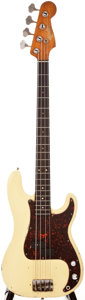 Musical Instruments:Bass Guitars, 1963 Fender Precision Bass Cream Electric Bass Guitar, #L10219....