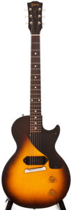 Musical Instruments:Electric Guitars, 1955 Gibson Les Paul Junior Sunburst Solid Body Electric Guitar,#5_5799....