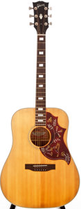Musical Instruments:Acoustic Guitars, Early 1970s Gibson Hummingbird Natural Acoustic Guitar, #129099....