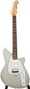 Musical Instruments:Electric Guitars, 2000 Reverend Avenger Silver Solid Body Electric Guitar, #01830....