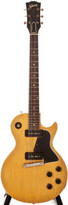 Musical Instruments:Electric Guitars, 1956 Gibson Les Paul Special TV Yellow Solid Body Electric Guitar,#6 9876....