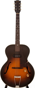 Musical Instruments:Acoustic Guitars, 1950 Gibson ES-125 Sunburst Archtop Electric Guitar, #322312....