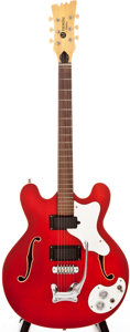 Musical Instruments:Acoustic Guitars, 1967 Mosrite Celebrity III Cherry Red Semi-Hollow Body ElectricGuitar, #K0653....