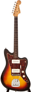 Musical Instruments:Electric Guitars, 1964 Fender Jazzmaster Sunburst Solid Body Electric Guitar,#L24751....