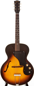 Musical Instruments:Acoustic Guitars, 1963 Gibson ES-120T Sunburst Semi-Hollow Body Electric Guitar,#89908....