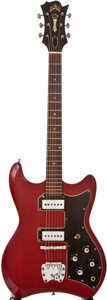 Musical Instruments:Electric Guitars, Circa 1966 Guild S-200 Thunderbird Cherry Solid Body ElectricGuitar, #42600....