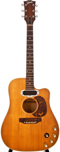 Musical Instruments:Acoustic Guitars, Early 1970s Gibson Les Paul Jumbo Natural Acoustic Electric Guitar,#913520....