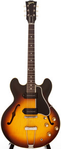 Musical Instruments:Electric Guitars, 1961 Gibson ES-330 Sunburst Semi-Hollow Body Electric Guitar,#34160....