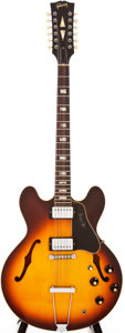 Musical Instruments:Electric Guitars, Circa 1970 Gibson ES-335 12 Sunburst 12-String Semi-Hollow BodyElectric Guitar, #905879....