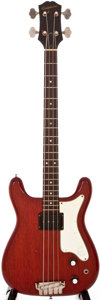 Musical Instruments:Electric Guitars, 1962 Epiphone Newport Cherry Electric Bass Guitar, #36341....