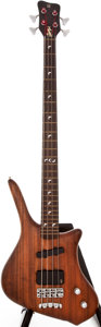 Musical Instruments:Electric Guitars, 1990s Warwick Dolphin Pro I Natural Electric Bass Guitar, #B01989....