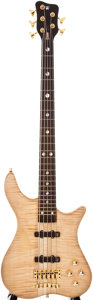 Musical Instruments:Electric Guitars, 2006 Warwick 5-String Natural Electric Bass Guitar, #L13089006....