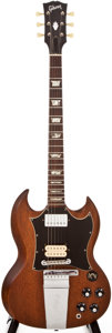 Musical Instruments:Electric Guitars, Early 1970s Gibson SG Stripped to Natural Solid Body ElectricGuitar, #911837....