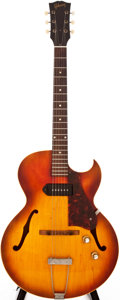 Musical Instruments:Electric Guitars, 1963 Gibson ES-125 TC Cherry Sunburst Semi-Hollow Body ElectricGuitar, #105350....