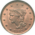 Large Cents, 1842 1C Large Date MS65 Red NGC. N-6, R.1. ...