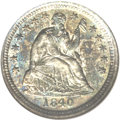 Seated Half Dimes, 1840-O H10C Drapery MS61 NGC....