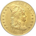 Early Half Eagles, 1798 $5 Large Eagle, Large 8, 13 Star Reverse AU58 PCGS.Breen-6428, BD-4, High R.4....