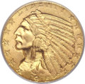 Indian Half Eagles, 1915 $5 MS65 PCGS. CAC....